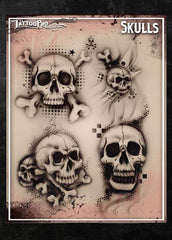 Wiser's Skulls Tattoo Pro Stencil Series 1 - Silly Farm Supplies
