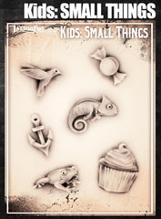 Wiser's Small Things Airbrush Tattoo Pro Stencil- Kids Series - Silly Farm Supplies