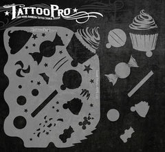 Wiser's Sweet Treats Tattoo Pro Stencil Series 1 - Silly Farm Supplies