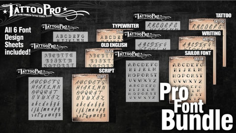 Wiser's Tattoo Pro Fonts Bundle