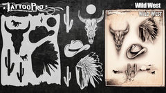 Wiser's Wild West Airbrush Tattoo Pro Stencil Series 4 - Silly Farm Supplies