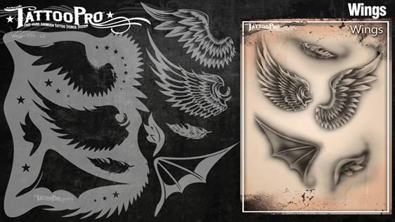 Wiser's Wings Airbrush Tattoo Pro Stencil Series 2