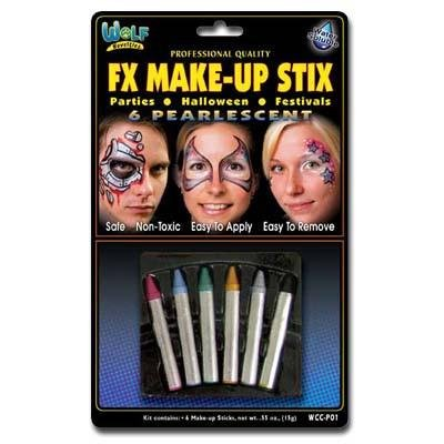Wolfe FX Make-up Stix Pearl 6-Pack