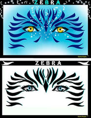 Zebra Blu Pandora Stencil Eyes Stencil - Silly Farm Supplies