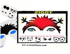 Ziggy Stencil Eyes Stencil - Silly Farm Supplies