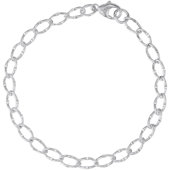Single Link Curb Classic Charm Bracelet