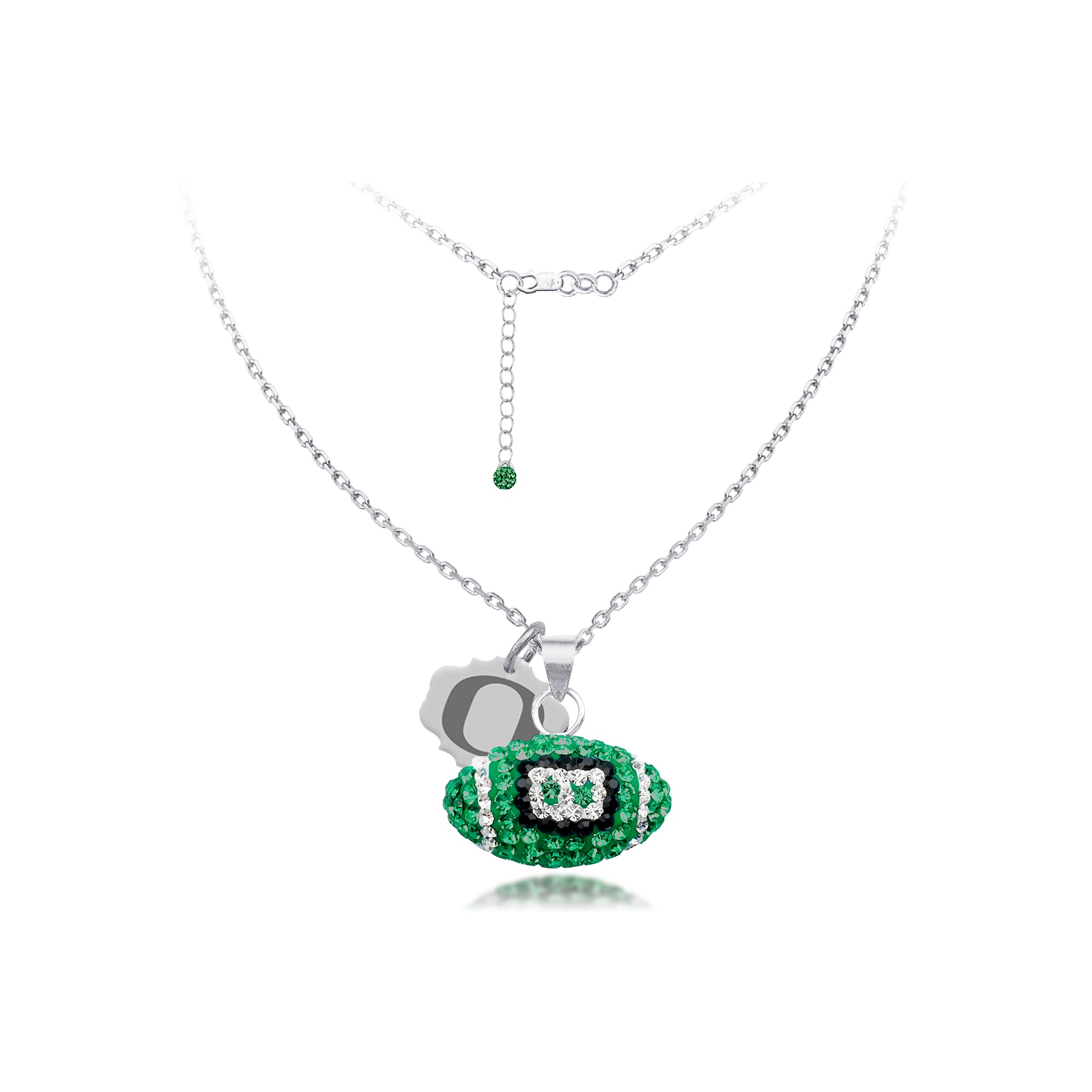 sterling crystal jewelry silver swarovski crystals green necklace set product