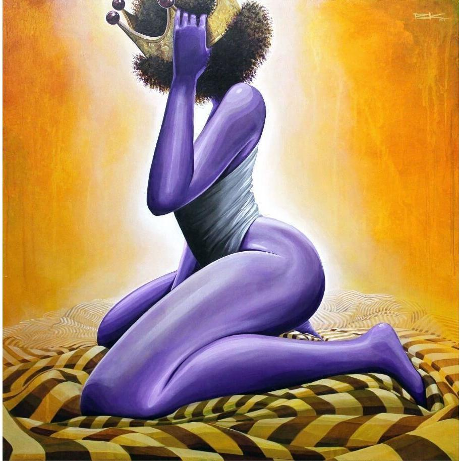 "PURPLE IS FOR ROYALTY (#1) ""QUEEN""-Limited edition print-BK The Artist Store"