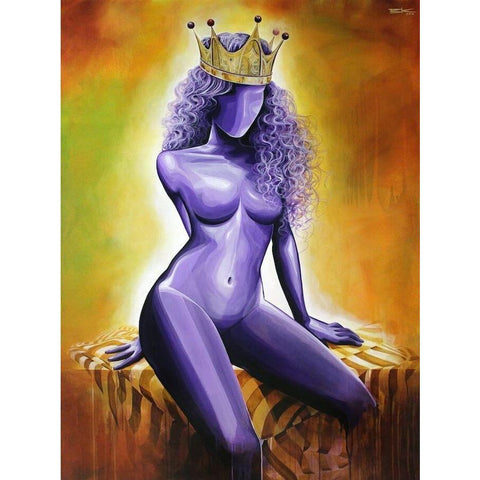 "PURPLE IS FOR ROYALTY (#2) ""QUEEN""-Limited edition print-BK The Artist Store"
