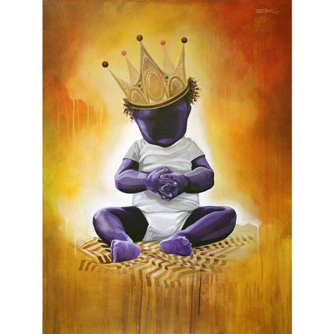 "PURPLE IS FOR ROYALTY (#3) ""CHILD""-Limited edition print-BK The Artist Store"