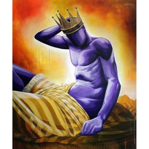 "PURPLE IS FOR ROYALTY (#4) ""KING""-Limited edition print-BK The Artist Store"