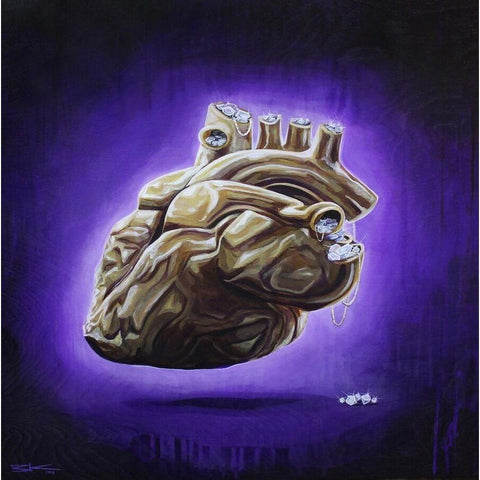 "PURPLE IS FOR ROYALTY (#6) ""HEART OF GOLD""-Limited edition print-BK The Artist Store"