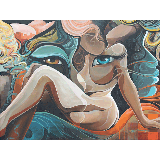RECLINING NUDES-Print-BK The Artist Store