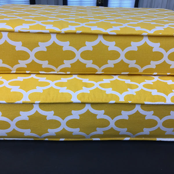 Custom Bench Cushions in a variety of fabric selections