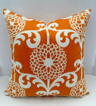 Decorative Pillow Cover in Waverly Floral Citrus Orange Fabric