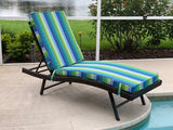 Custom Outdoor Seat, Lounge and Ottoman Cushions in a variety of Sunbrella Fabrics