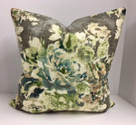 Decorative Pillow Cover in Covington Venus Basketweave Cindersmoke Fabric
