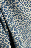 Delft Blue Fabric, Blue Leopard Animal Print
