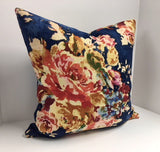 Decorative Pillow Cover in Covington Venus Basketweave Sapphire Fabric