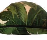 Designer Tommy Bahama Swaying Palm Leaf Print with Black Piping