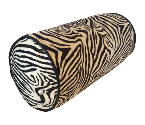 Zebra Print Bolster in black and white colors, insert included