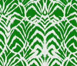 Kelly Green Ikat Pattern with White Background