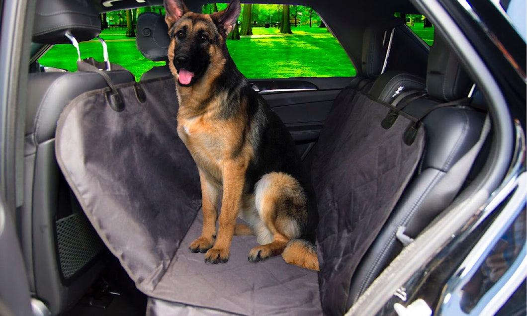 Lovey Doggy Black Water-Resistant Pet Car Seat Cover