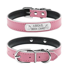 Personalized Leather  Dog Collars with Engraving