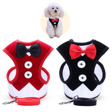Pet Bow tie Vest Pet Clothes Harness Leash