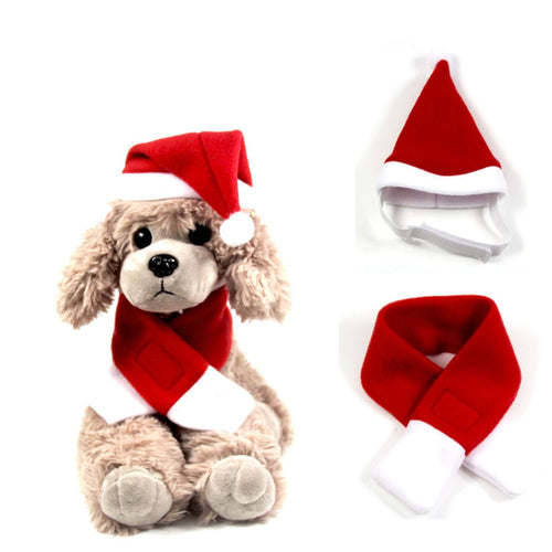 Santa Hat with Scarf  Bow Tie Christmas Costume