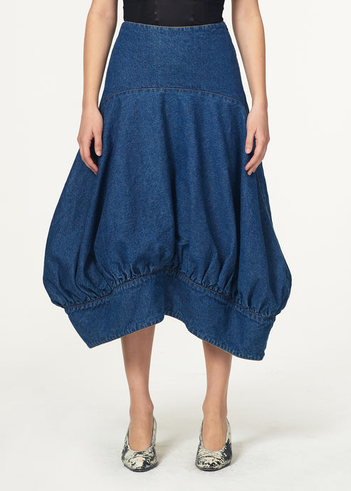 Denim Bell Skirt