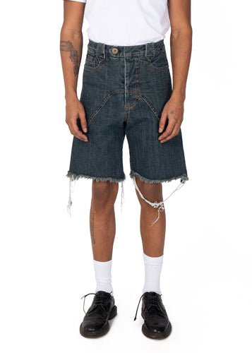 Vaquera Denim Western Trade Shorts