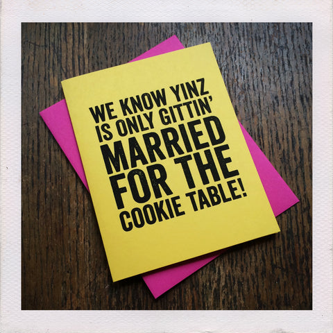 John the Craftist - Cookie Table Card
