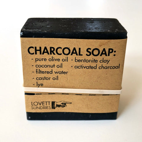 Charcoal Soap by Lovett Sundries