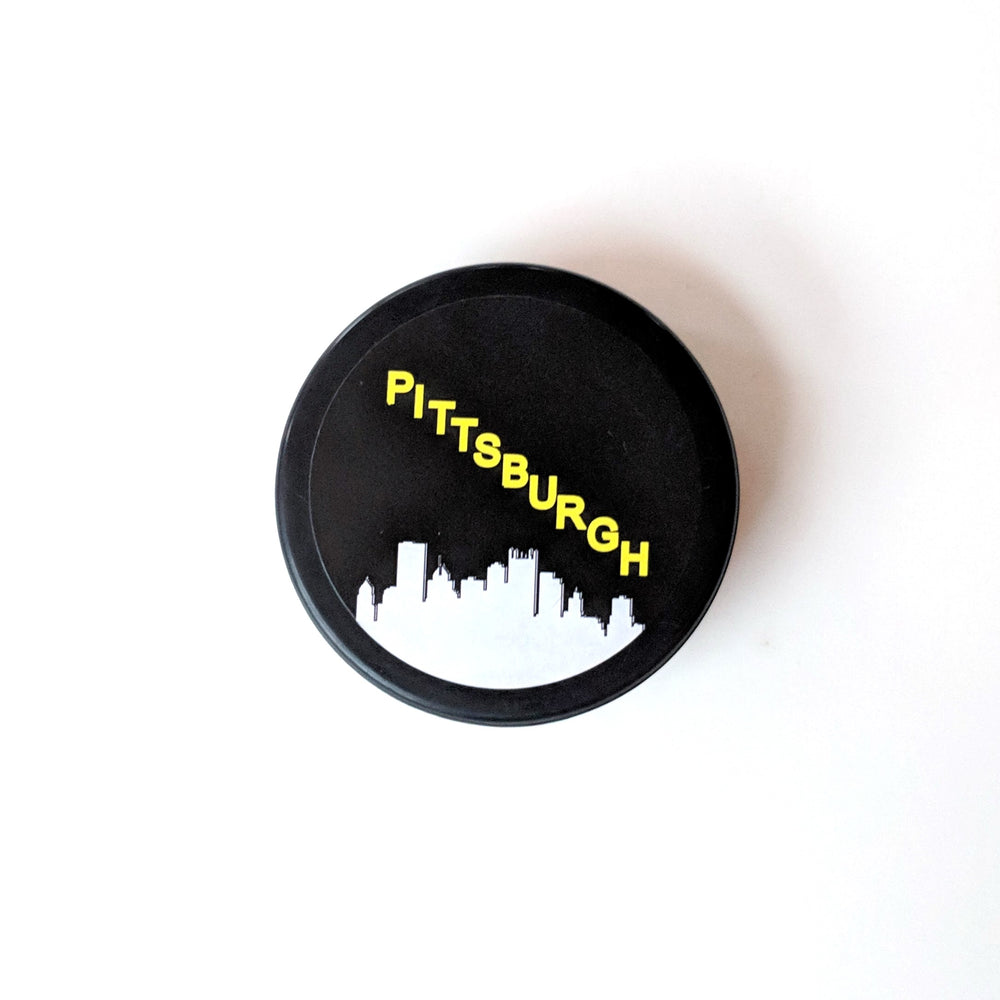 Hockey Puck Bottle Opener - Pittsburgh