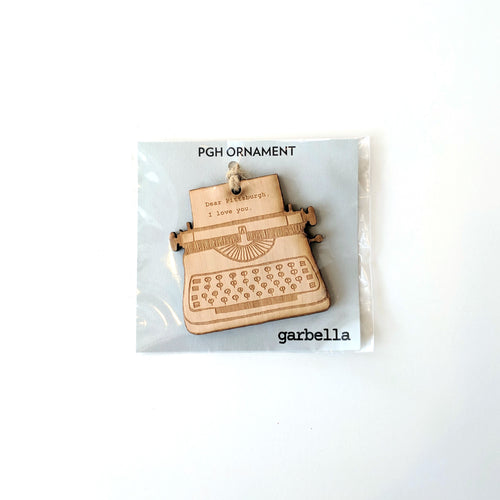 Dear Pittsburgh, I love you Typewriter Ornament