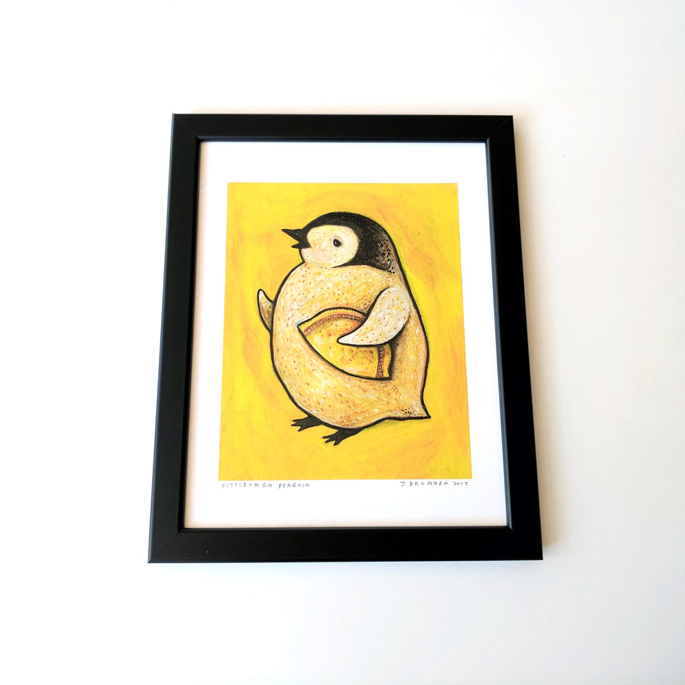 Pittsburgh Penguin Print Framed