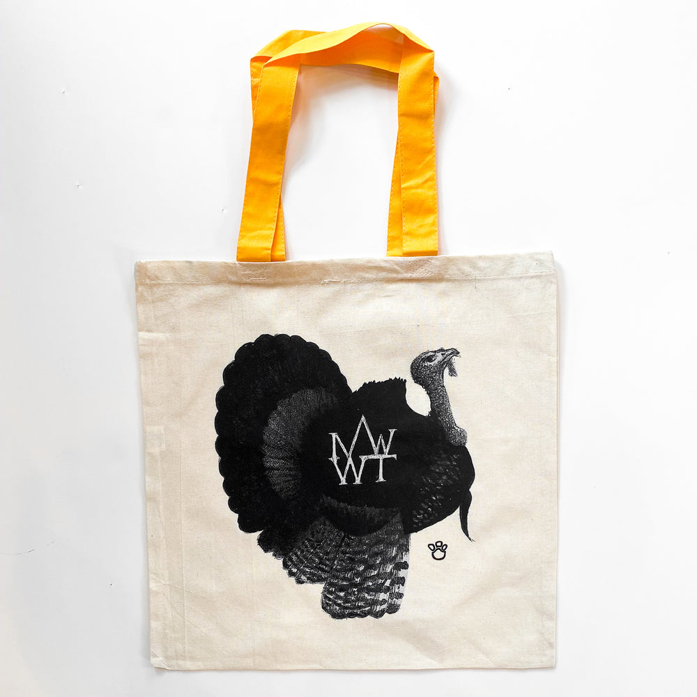 Wild Turkeys of Mt. Washington Tote with Yellow Handle