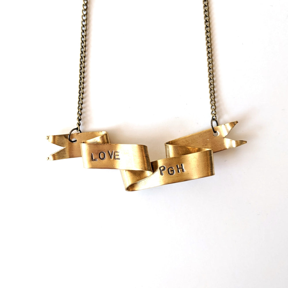 Love PGH Banner Necklace