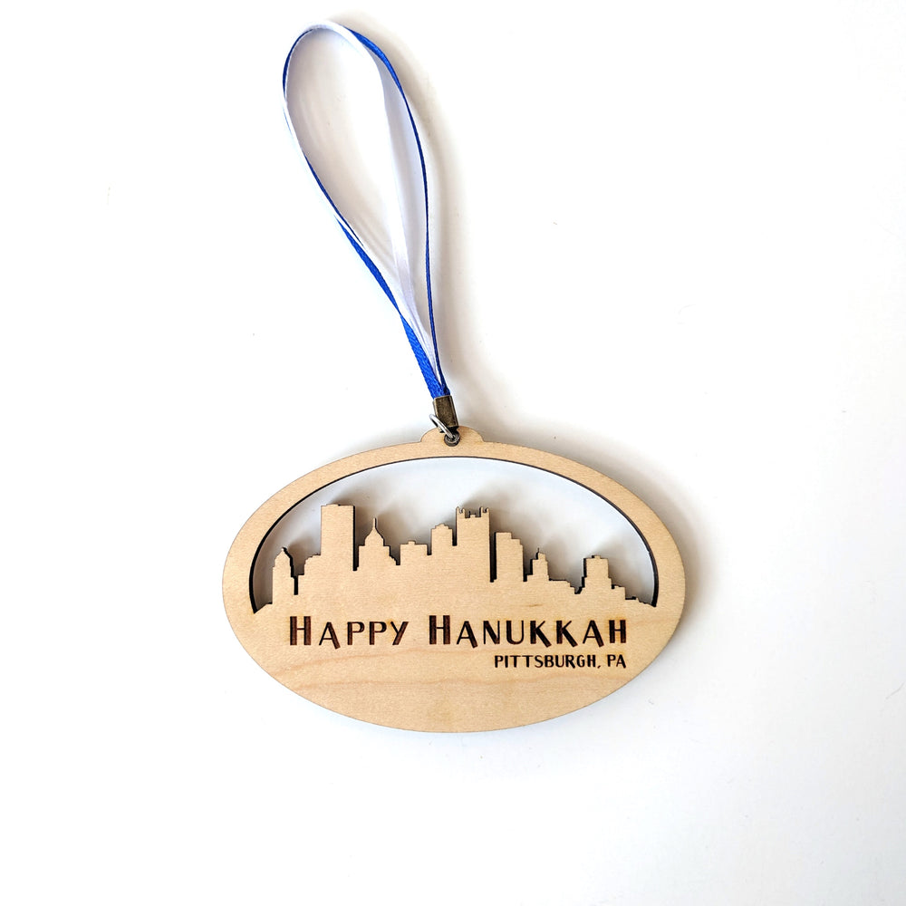 Wood Hanukkah Ornament