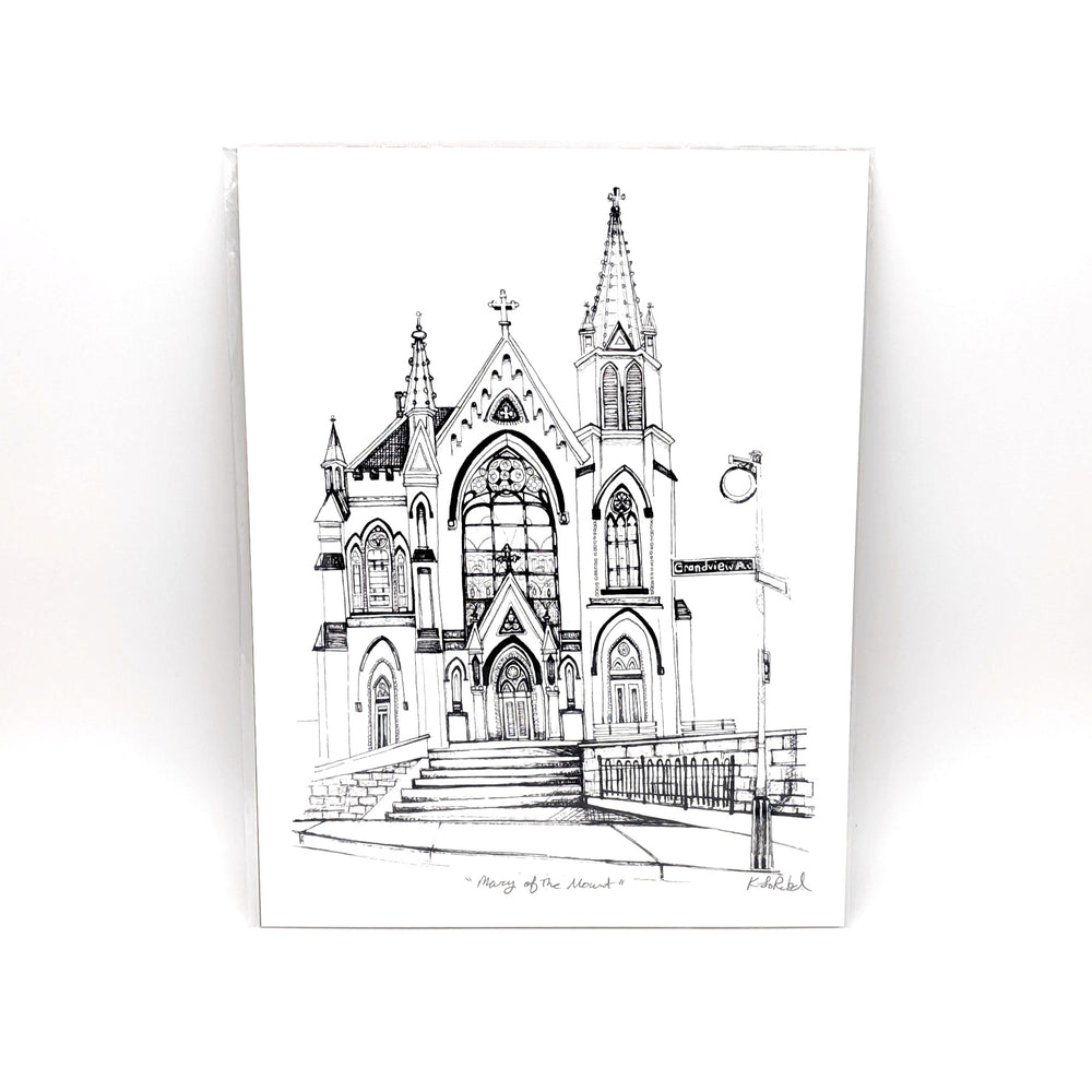 St Mary Of The Mount Print