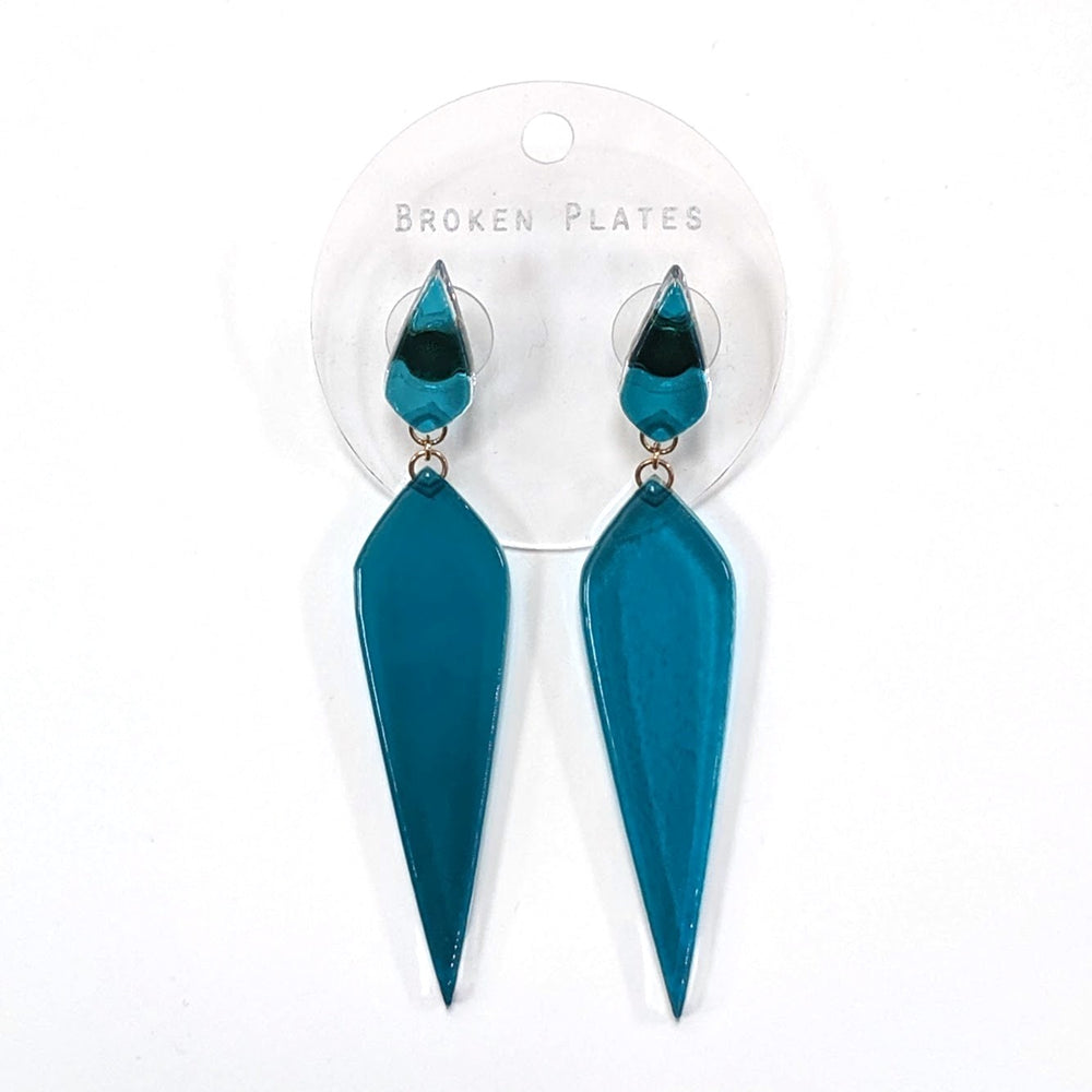 Lagoon Deco Dagger Drop Earrings