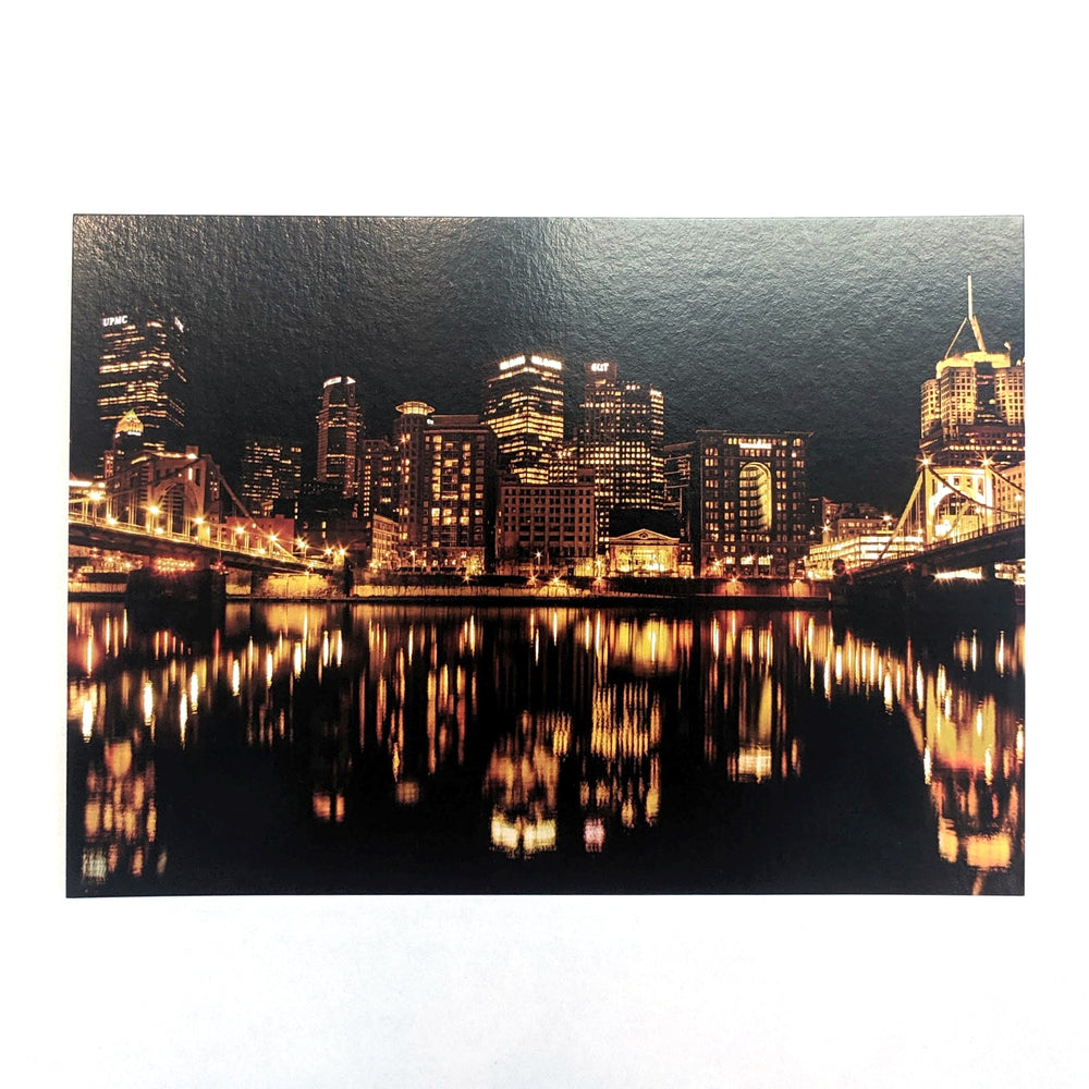 Black and Yellow Reflections Postcard