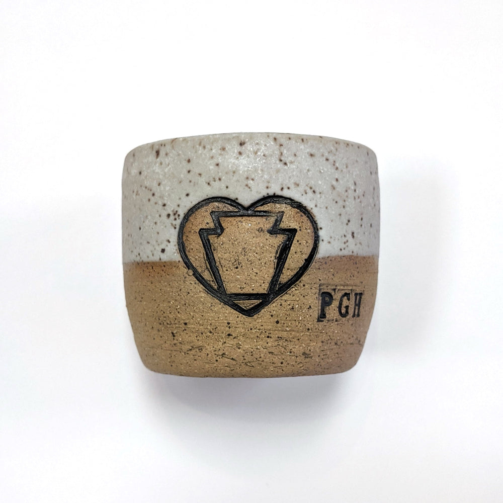 Heart Keystone Ceramic Mini Cup