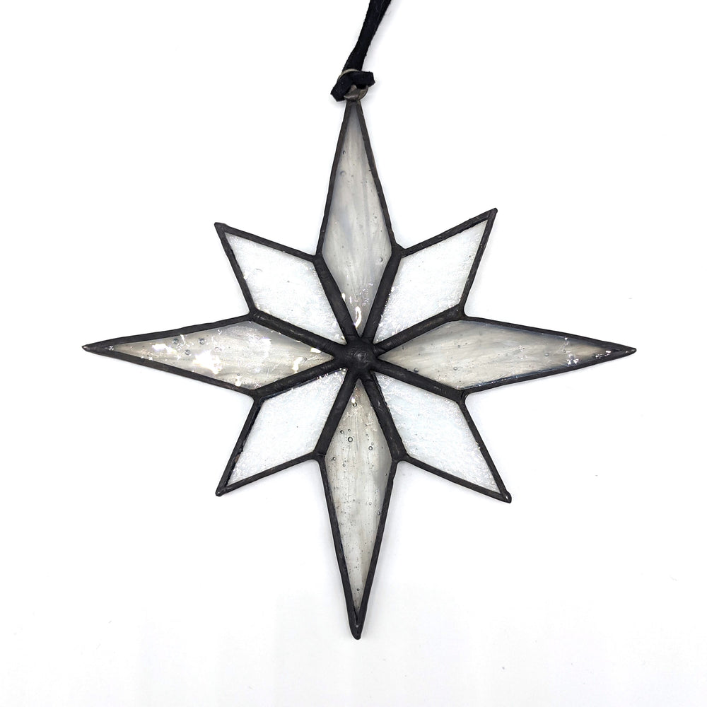 Glass Snow Flake Ornament - Assorted