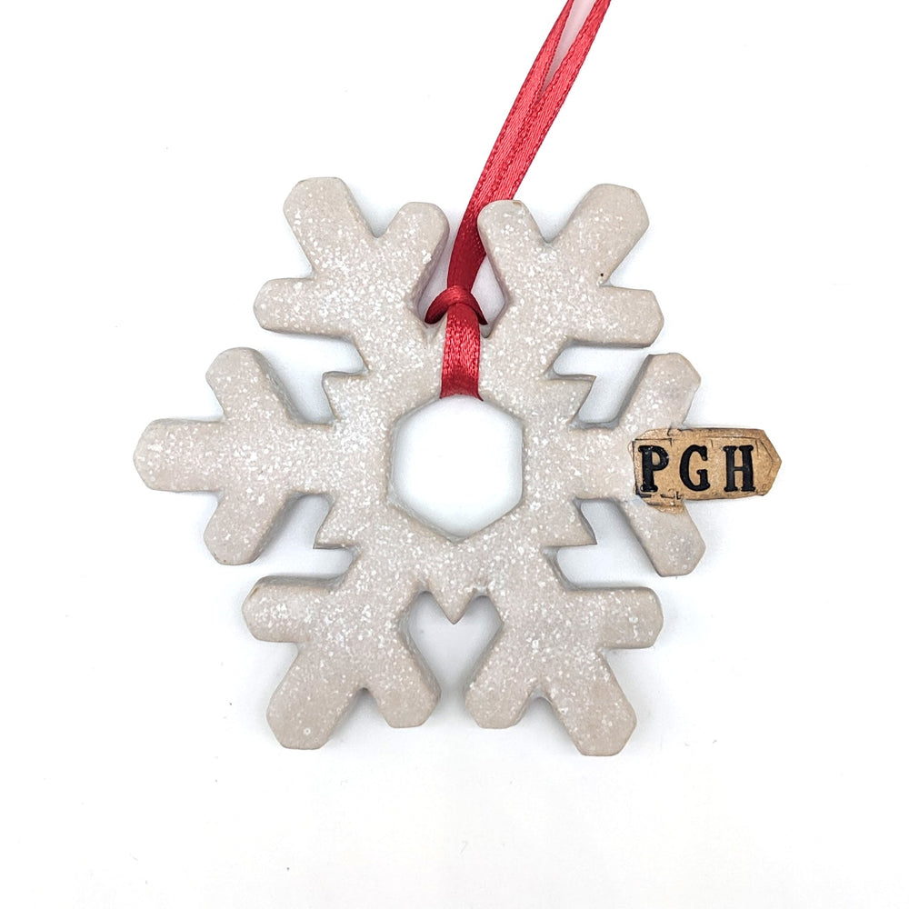 Ceramic Snowflake Ornament