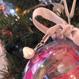 Vintage Bead Glass Bulb Ornament