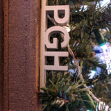 Love PGH Steel Beam Ornament