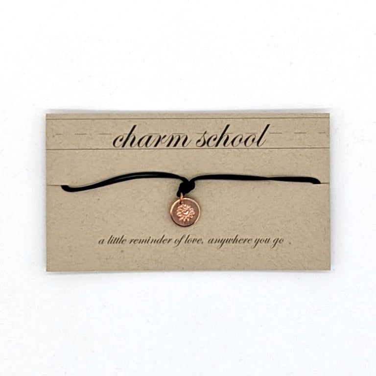 Charm School Bracelet - Black Copper