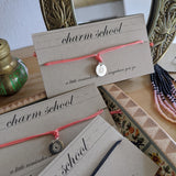 Charm School Bracelet - Coral Sterling Silver
